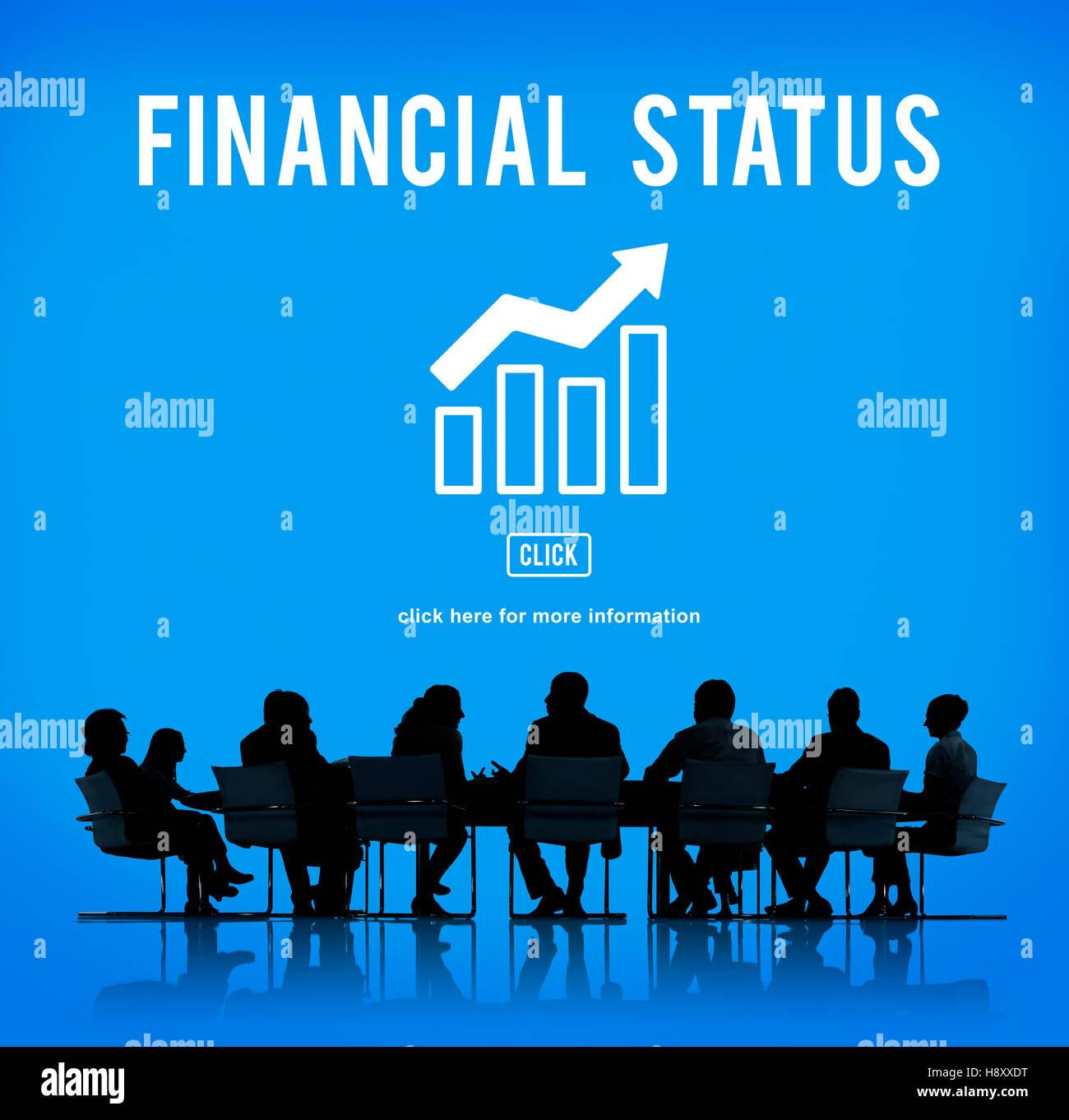La croissance des entreprises de l'économie Concept Graphique Photo Stock