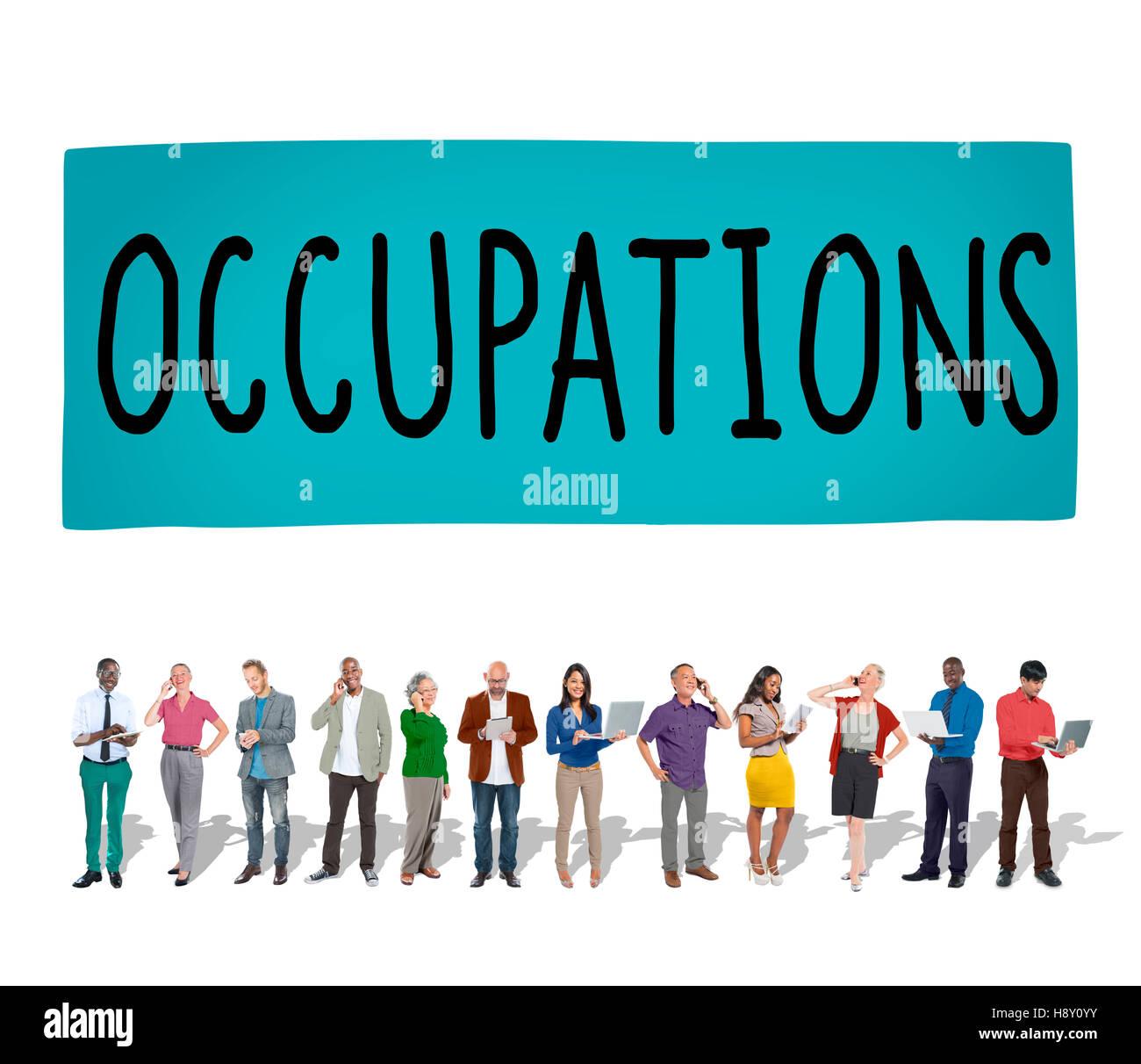 L'emploi de carrière métiers Recrutement Embauche Emploi Concept Photo Stock