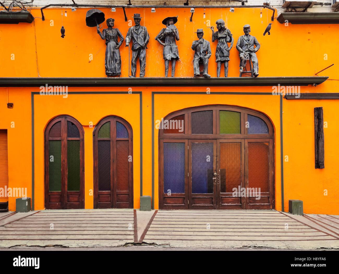 L'Uruguay, Montevideo, Cordon Quartier, vue sur El Milongon. Photo Stock