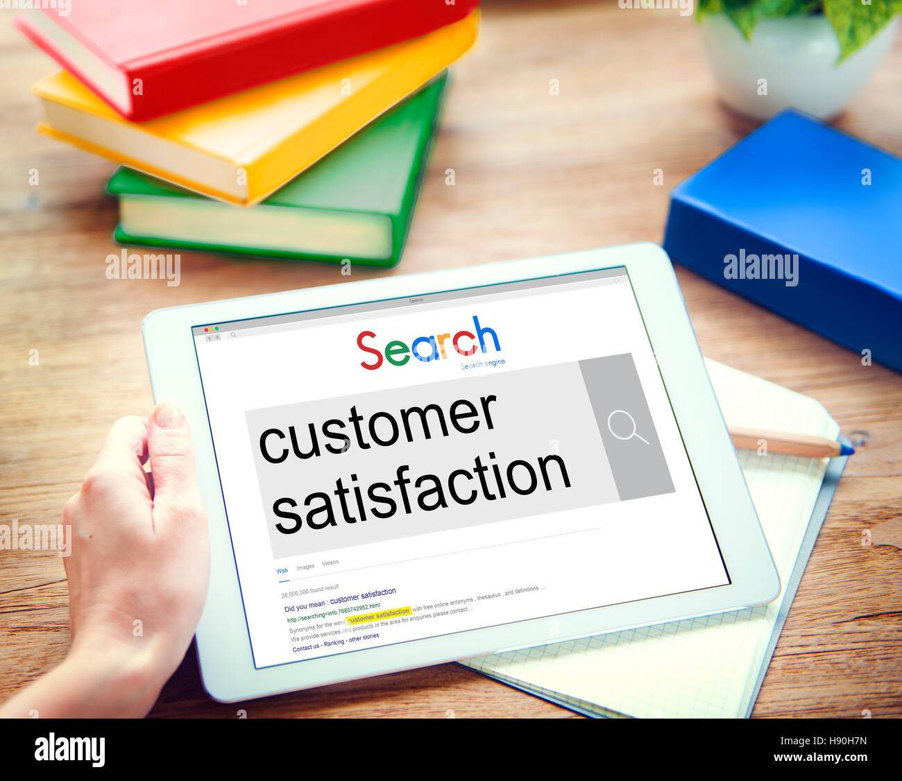 Services Satisfaction client Concept Satisfait Photo Stock