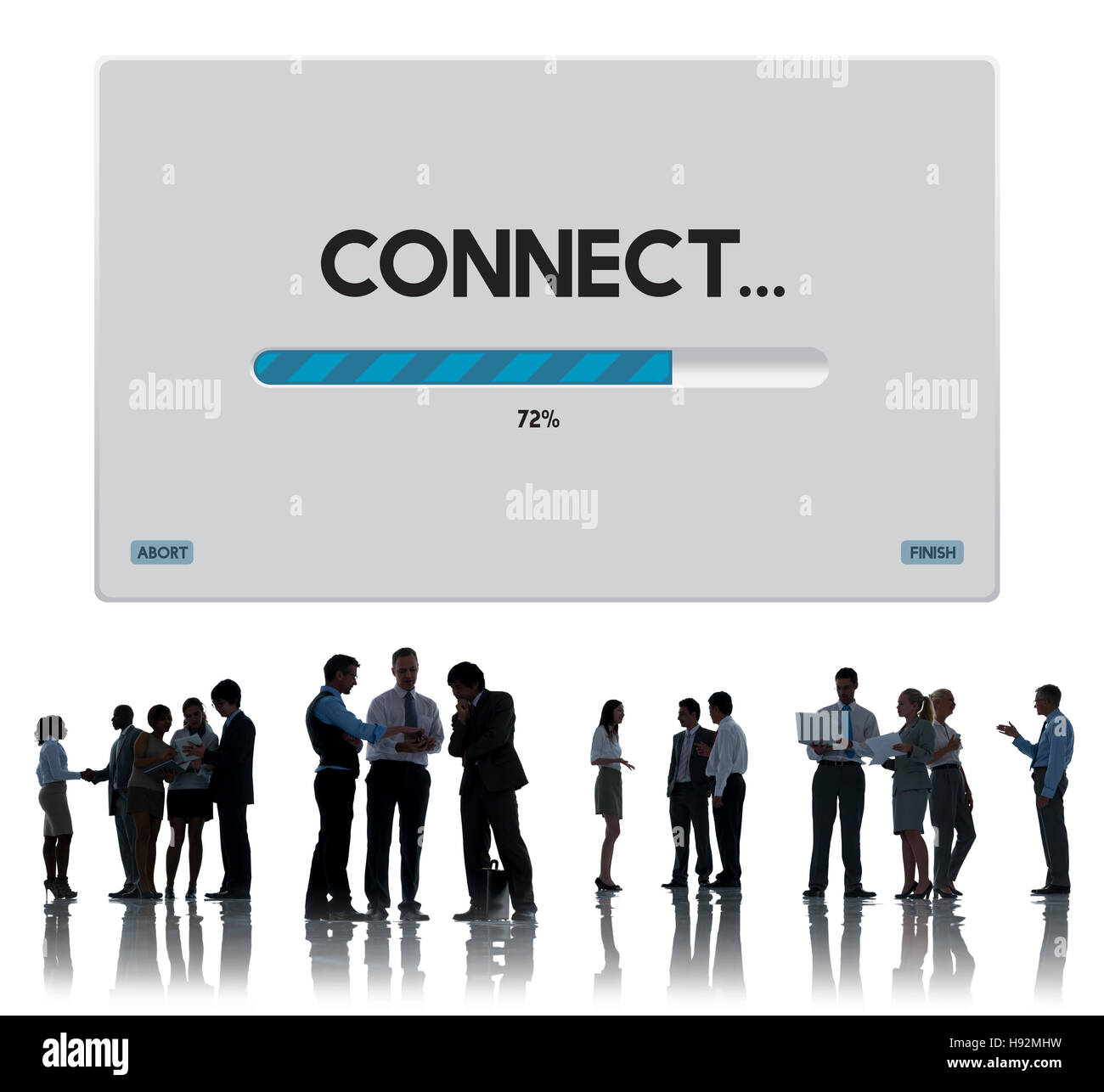 Données de connexion Télécharger Streaming Concept d'archivage Photo Stock