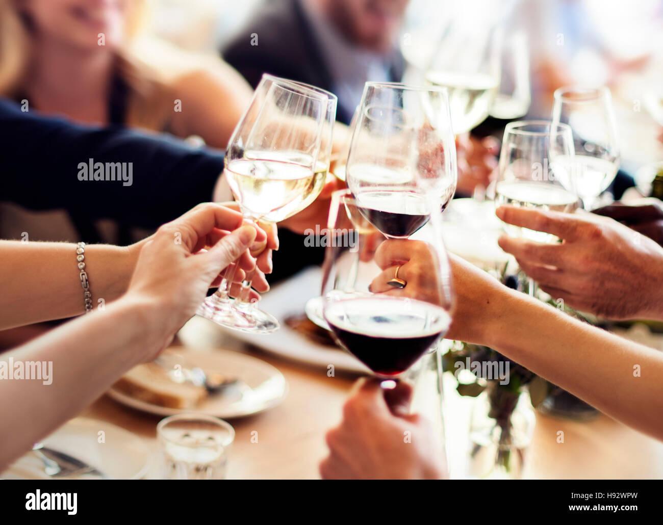 Les gens d'affaires Célébration Parti Concept Réussite Photo Stock