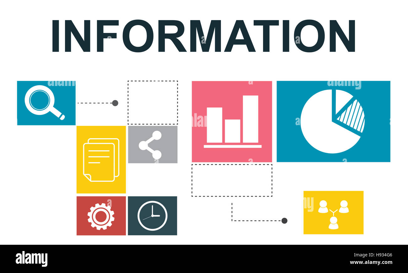L'analyse des données de l'information Concept Rapport Analytics Photo Stock