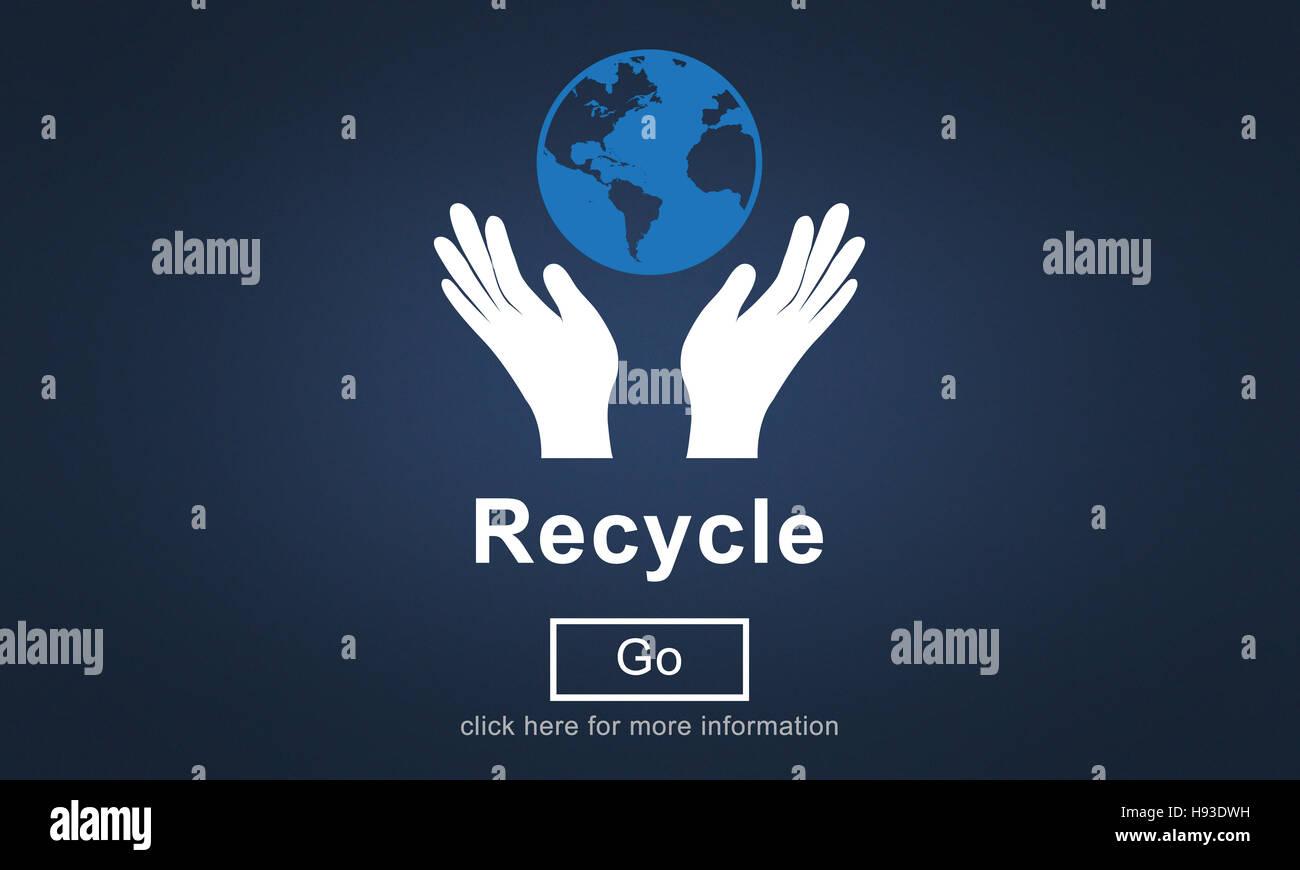 Réduire Réutiliser Recycler Concept Environnement écosystèmes Photo Stock