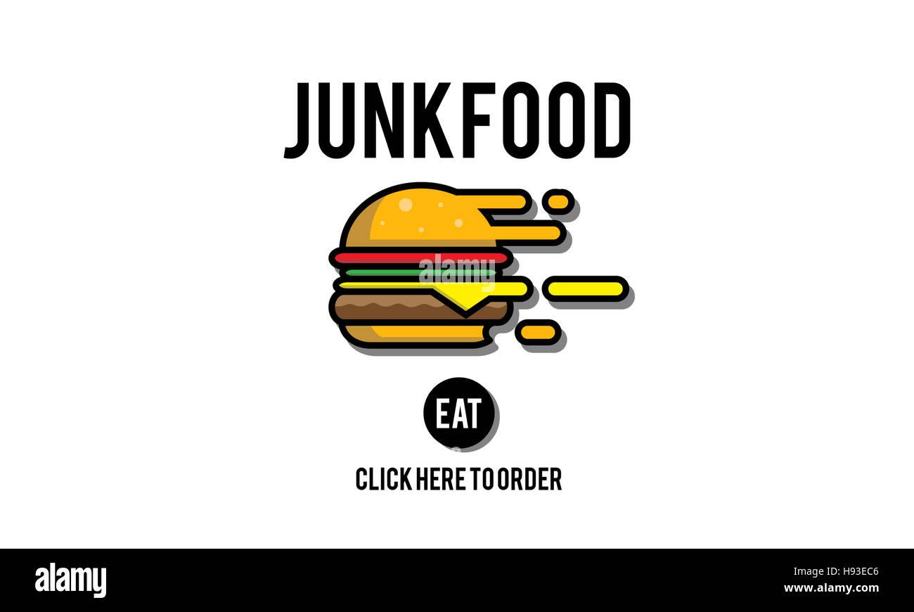 Junk Food Fast Food Concept Obésité malsaine Photo Stock