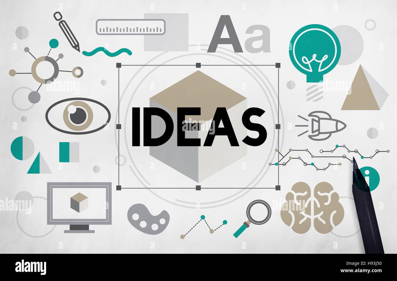 L'innovation des idées d'inspiration graphique Concept artistique Photo Stock