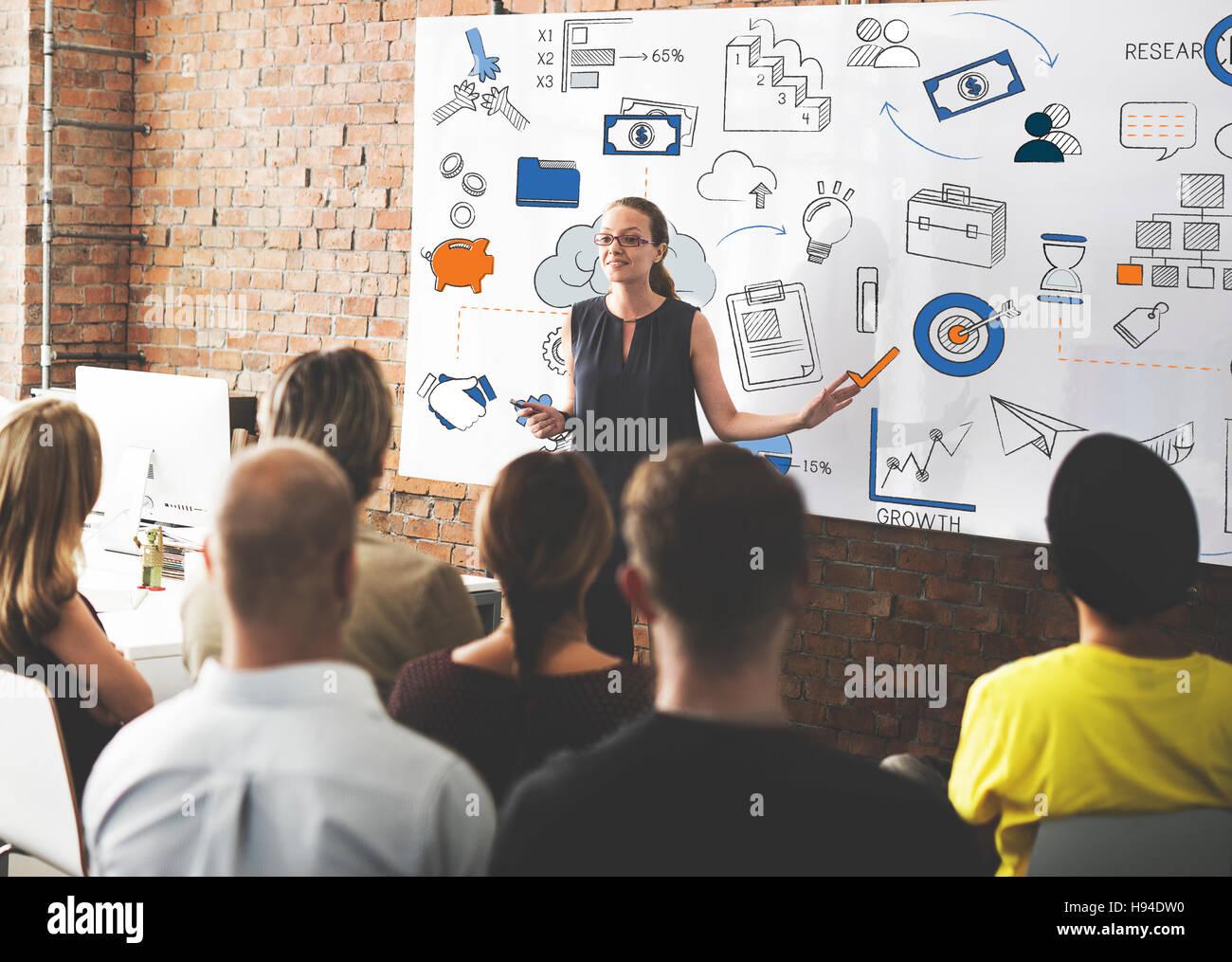 La croissance de l'entreprise Concept de gestion des finances Photo Stock