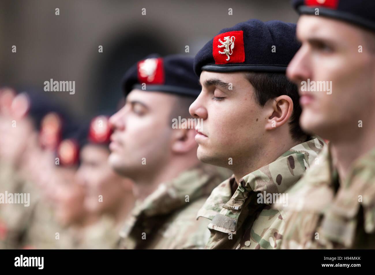 Dimanche du souvenir à Manchester aujourd'hui (dimanche 13 novembre 2016) dimanche du Jour du Souvenir Photo Stock