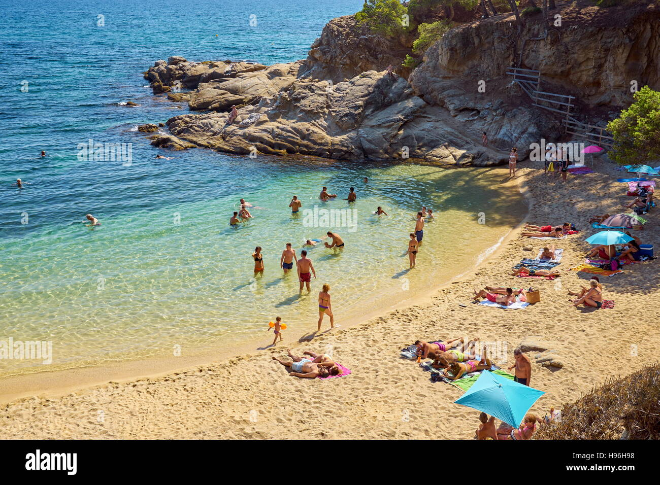 Espagne - Costa Brava, Catalogne Photo Stock