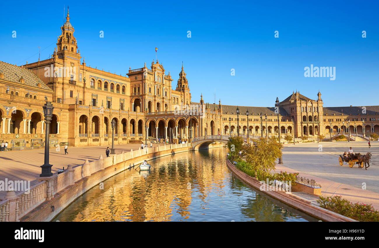 Plaza de Espana - Séville, Andalousie, Espagne Photo Stock