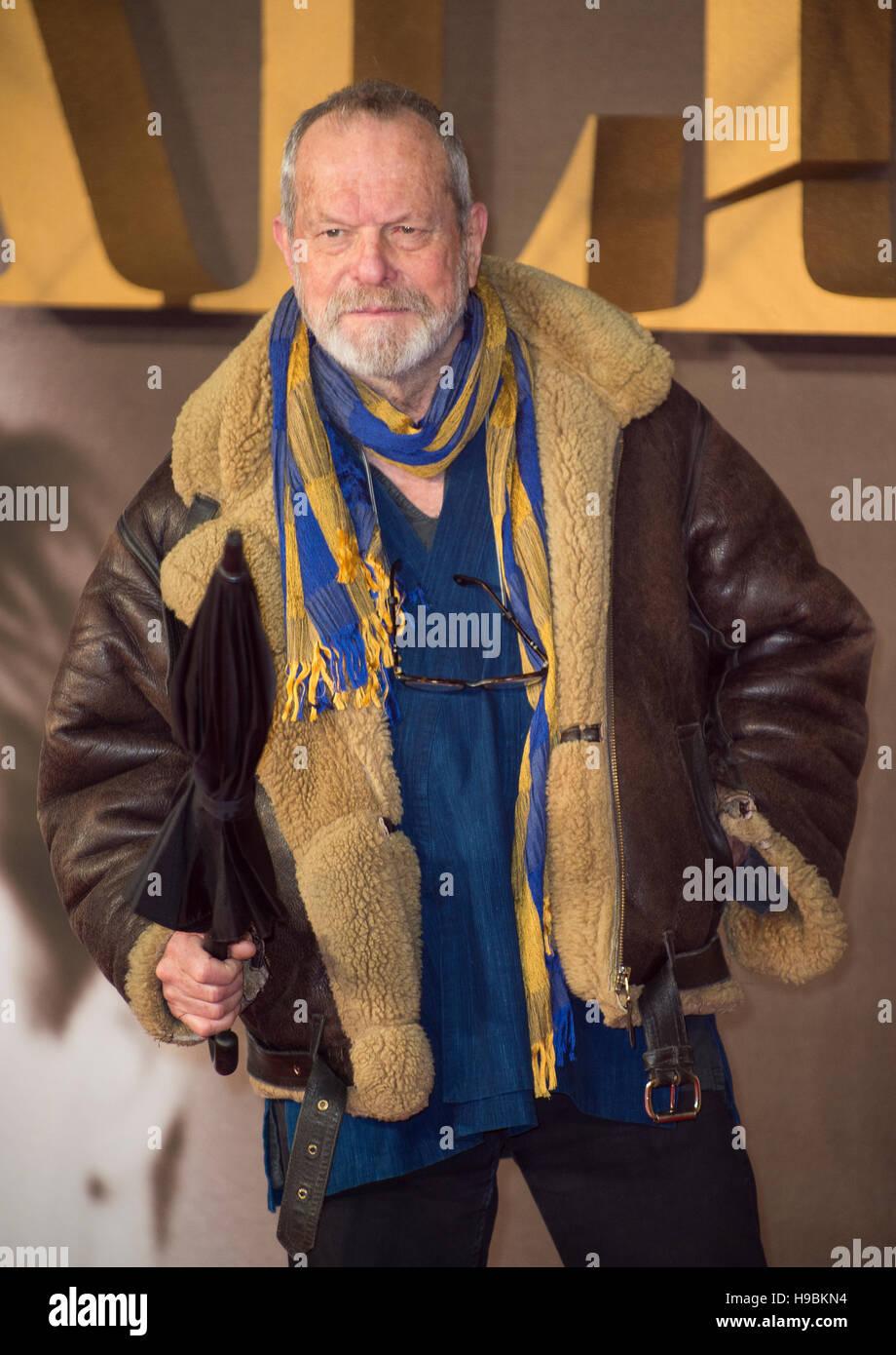 Londres, Royaume-Uni. 21 Nov, 2016. Terry Gilliam assiste à la première UK de' à l'Odeon Leicester Square le 21 novembre 2016 à Londres, en Angleterre. Crédit: Gary Mitchell/Alamy Live News Banque D'Images