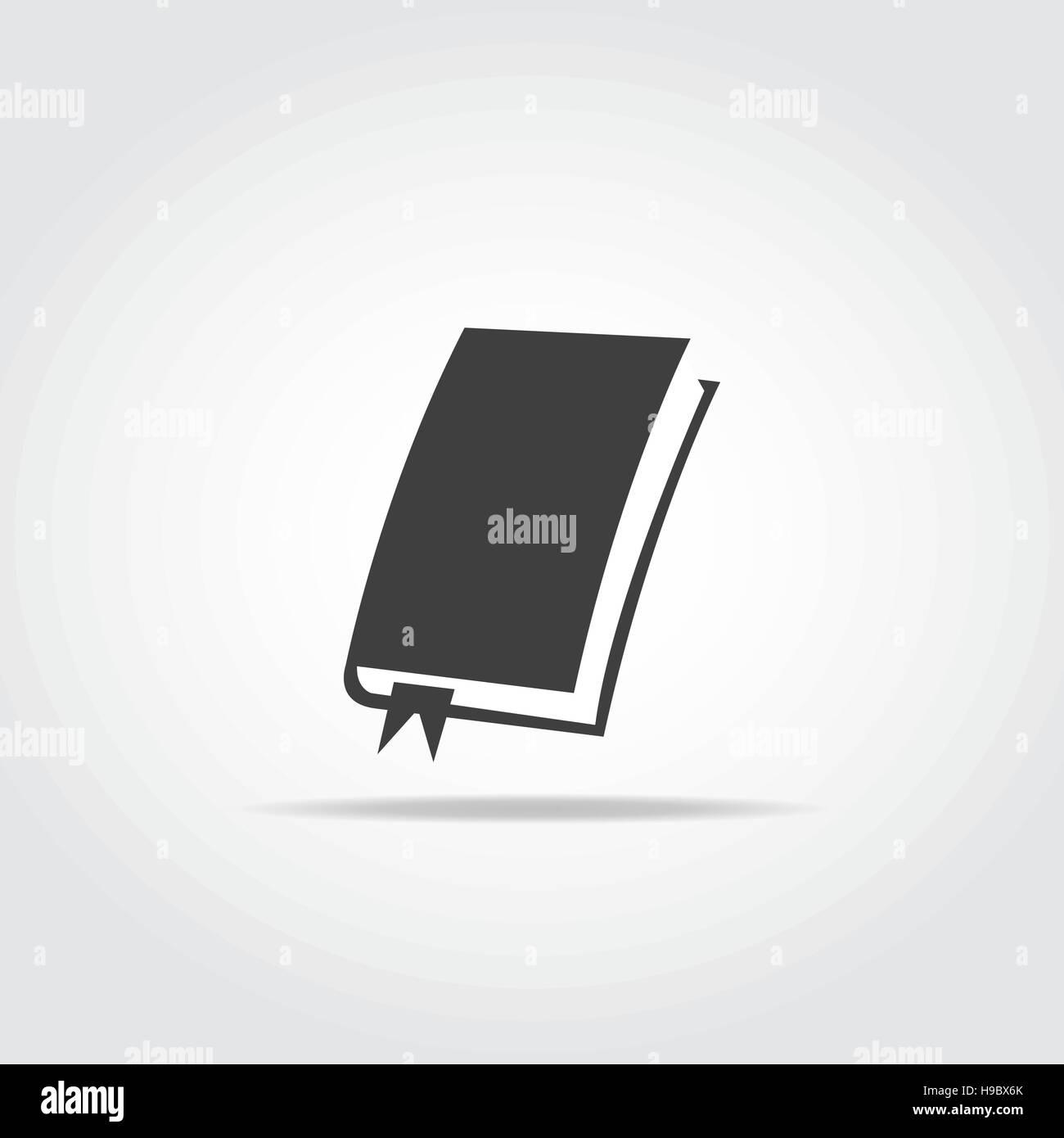 Livre Simple Avec L Icone Des Signets En Couleur Noir