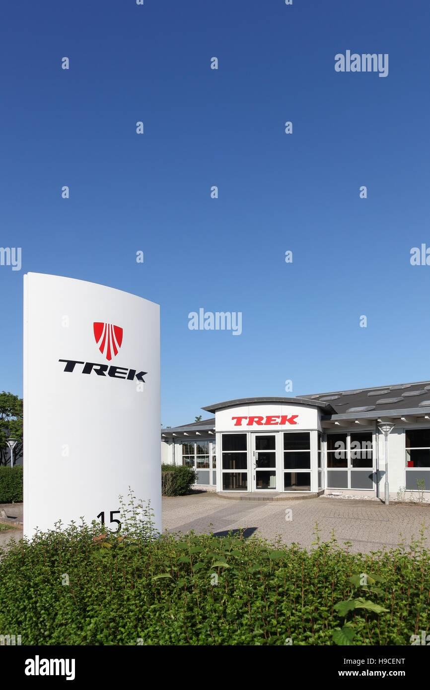 Trek company construction Photo Stock