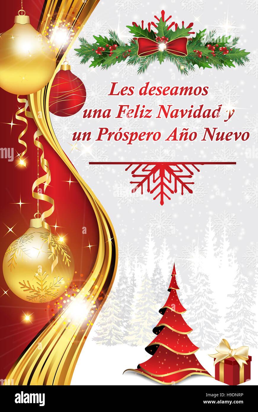 Carta de felicitacion de navidad y aРіВ±o nuevo