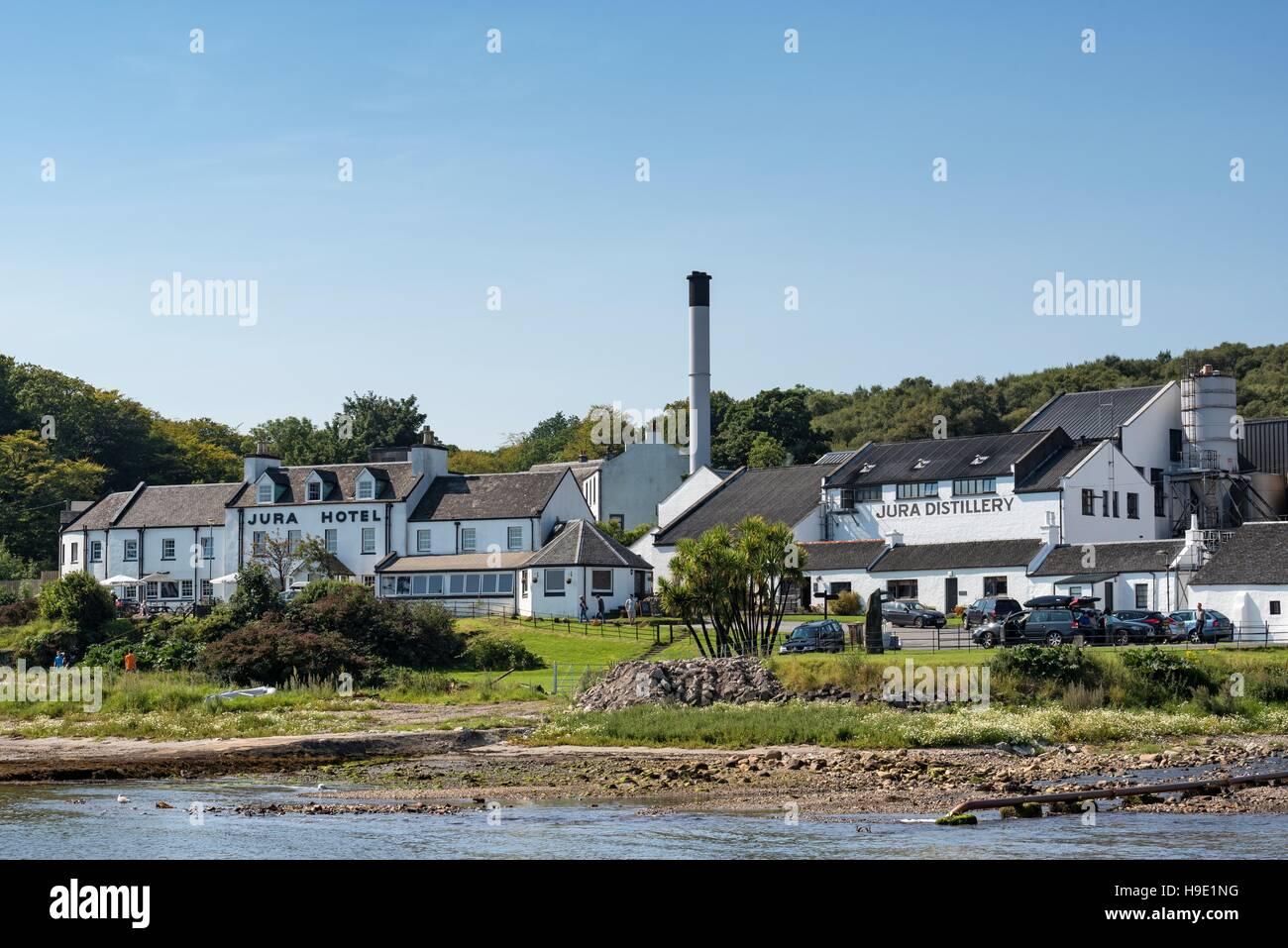 Distillerie de whisky et Jura, Jura, l'hôtel Inner Hébrides, Ecosse, Royaume-Uni Banque D'Images