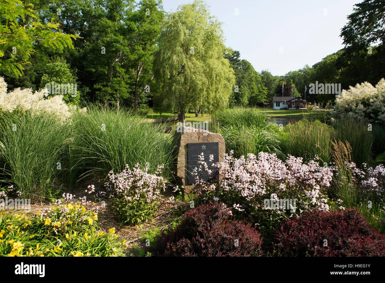 Willow Park à Wolfville, en Nouvelle-Écosse, Canada. Le parc a été créé à l'occasion du centenaire de la Confédération du Canada. Banque D'Images