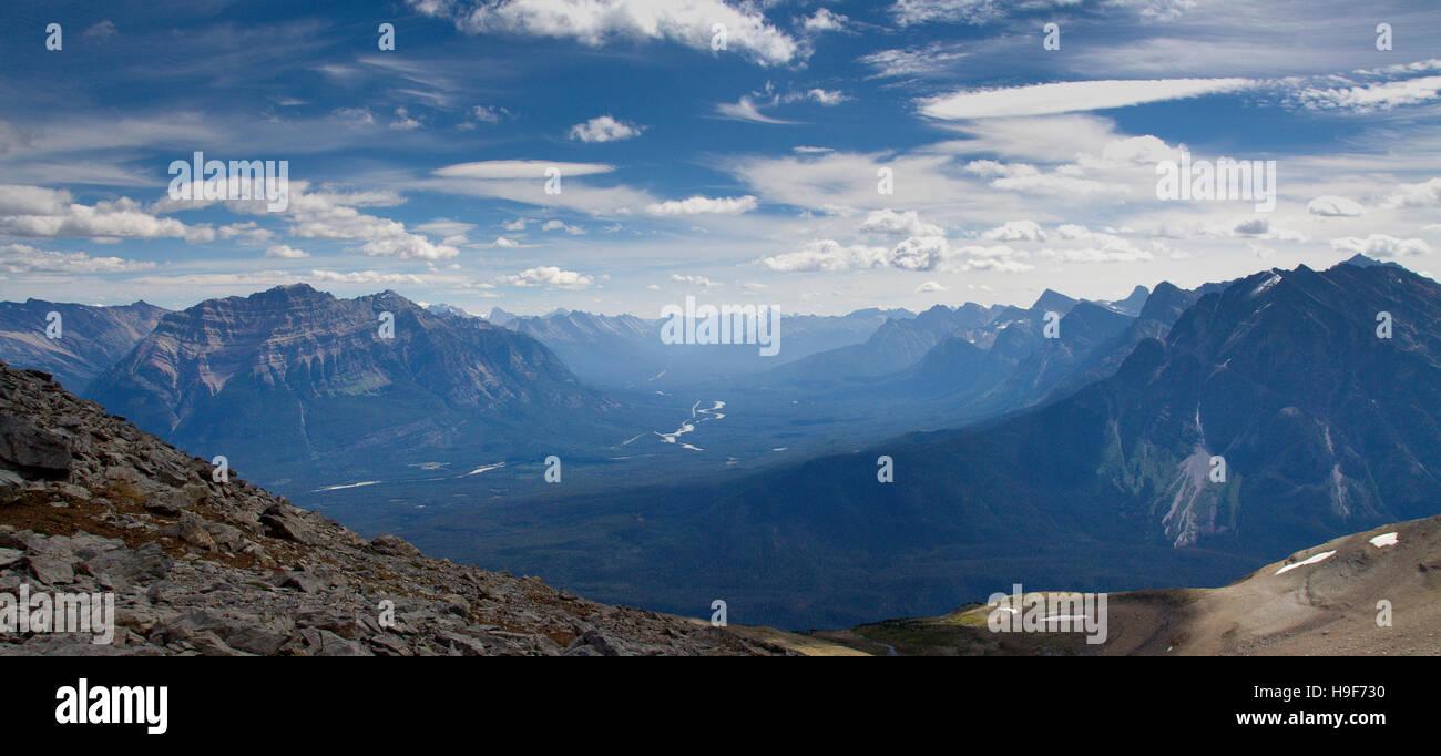 La chaîne de montagne du Canada Jasper Park Valley Photo Stock