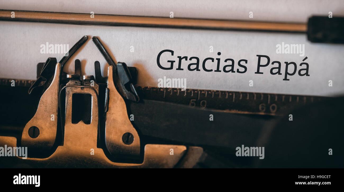 Image composite de mot gracias papa Photo Stock