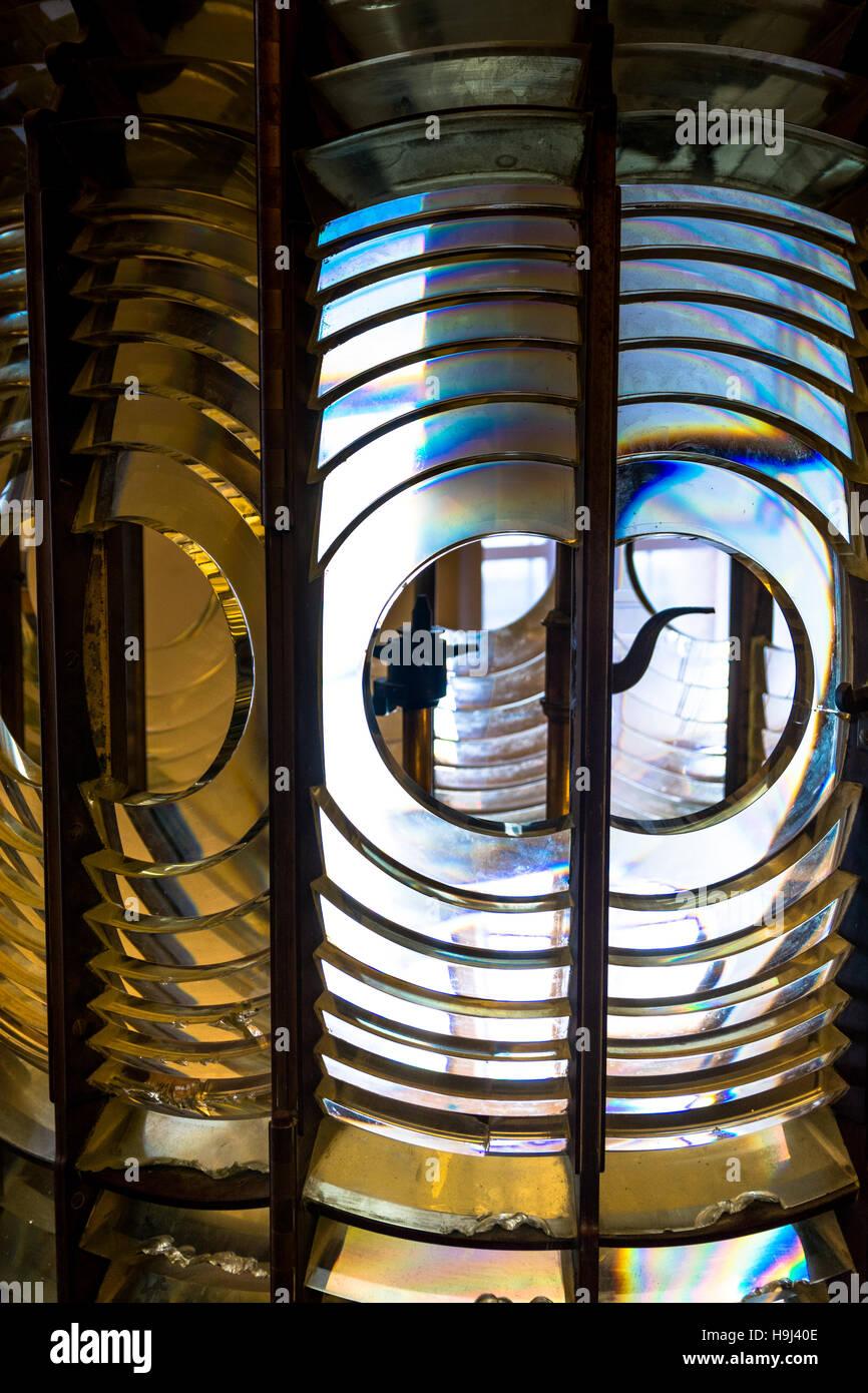 Résumé de réfraction du verre de phare Photo Stock