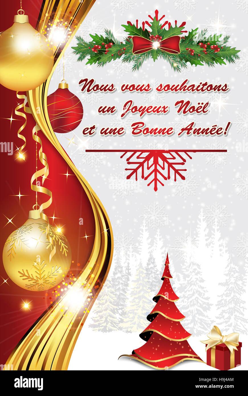 Joyeux Noel Et Nouvel An.Carte De Voeux D Entreprise Pour Celebrer L Arrivee De La