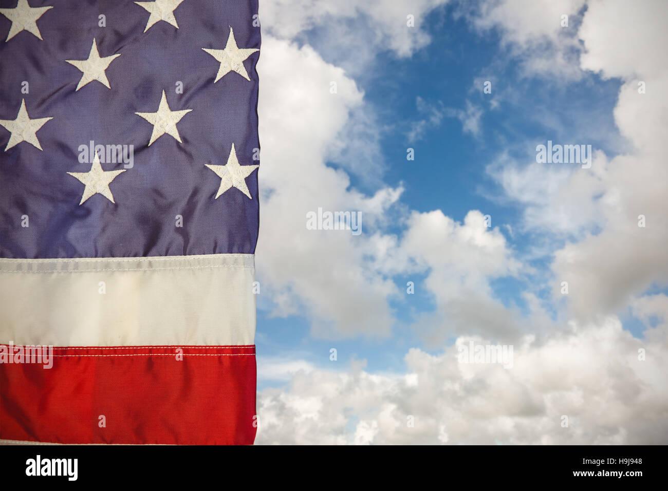 Image composite de plissé us flag Photo Stock