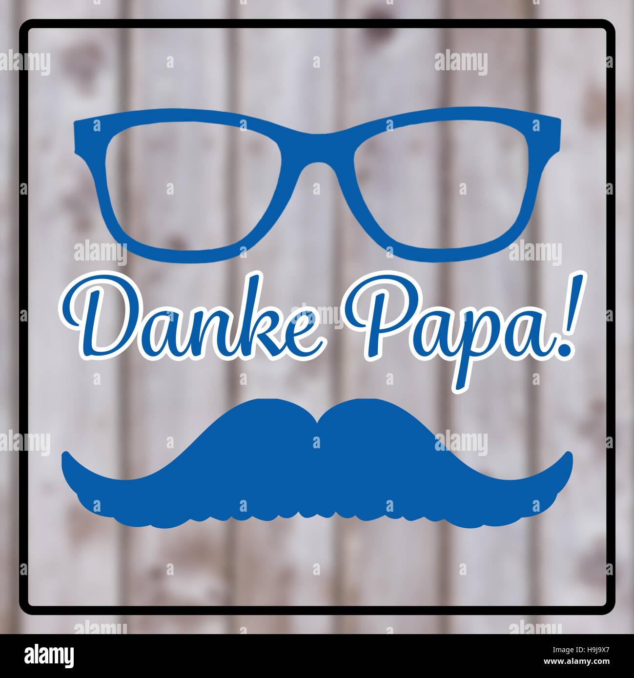 Image composite de danke papa Photo Stock