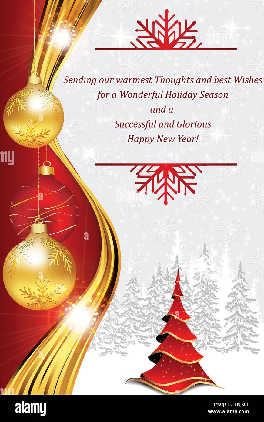 Carte De Vœux Dentreprise Pour Noël Et Nouvel An Contient