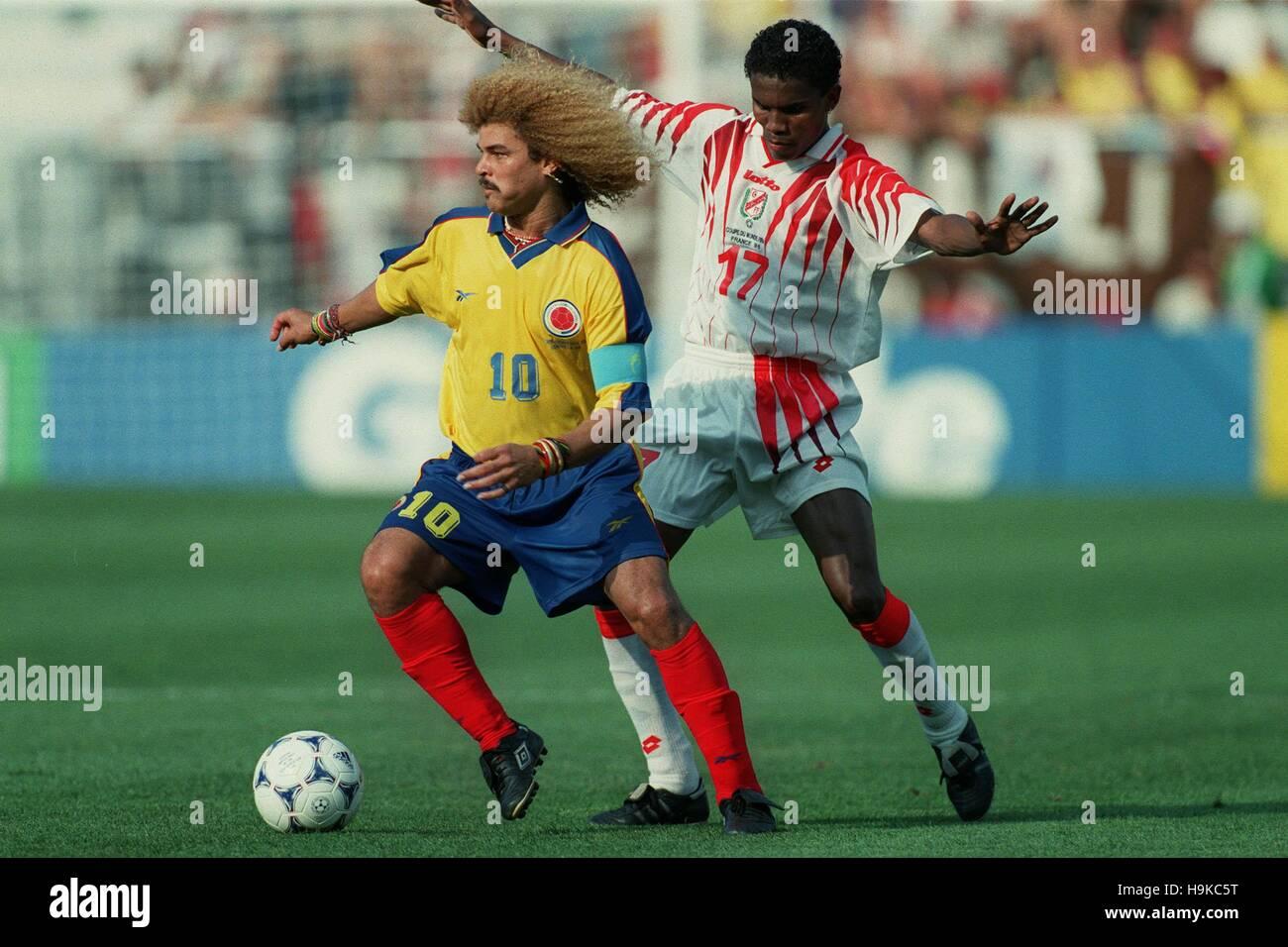 Carlos Valderama Clayton Colombie V Tunisie 22 Juin 1998 Banque D