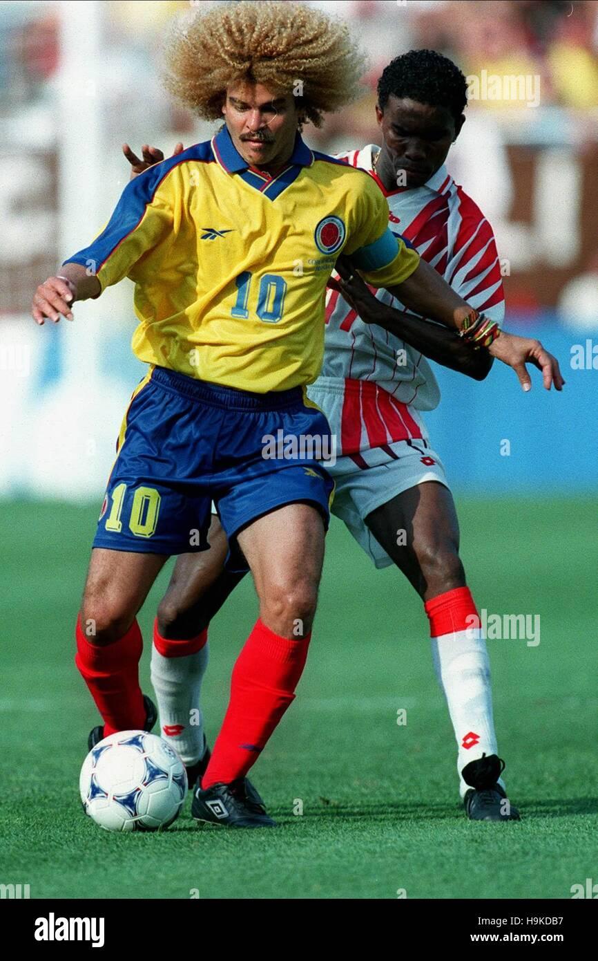 Carlos Valderrama Clayton Colombie V Tunisie 03 Juillet 1998