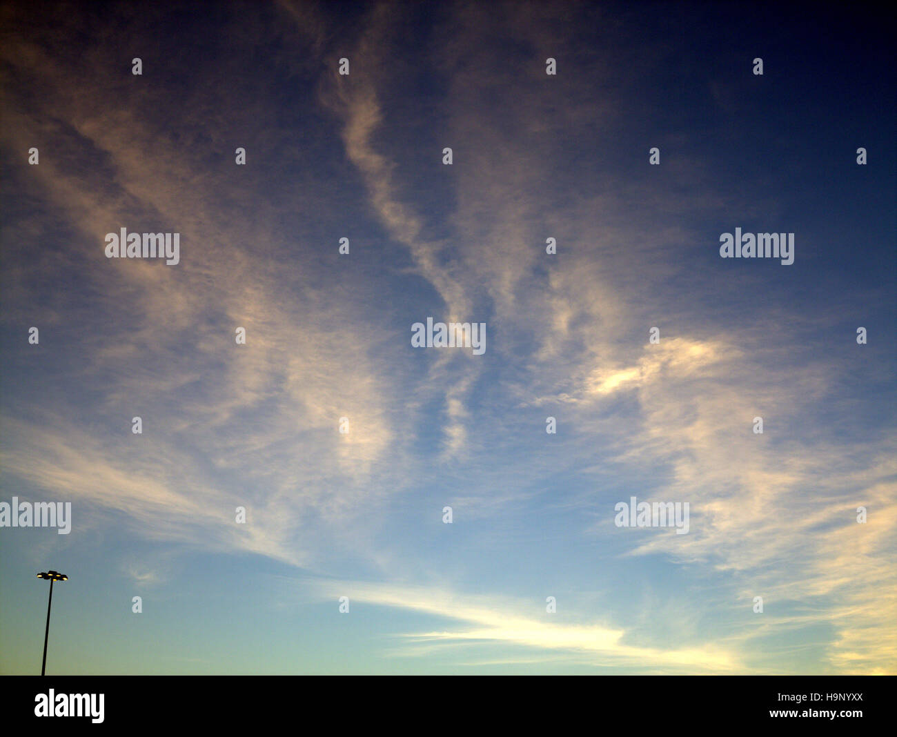 Abstract blue ciel nuage bleu fond Photo Stock