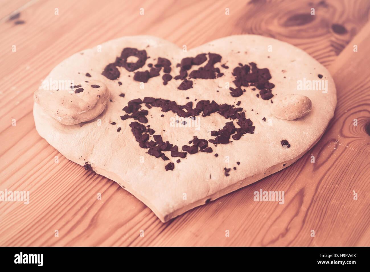 """Biscuit de Noël pour """"papa"""" Photo Stock"""