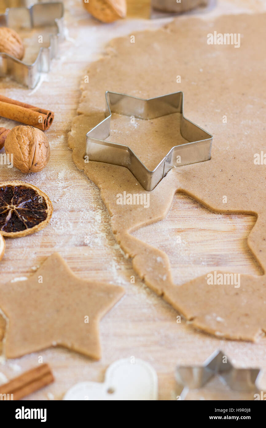 Gingerbread cookies faits maison Photo Stock