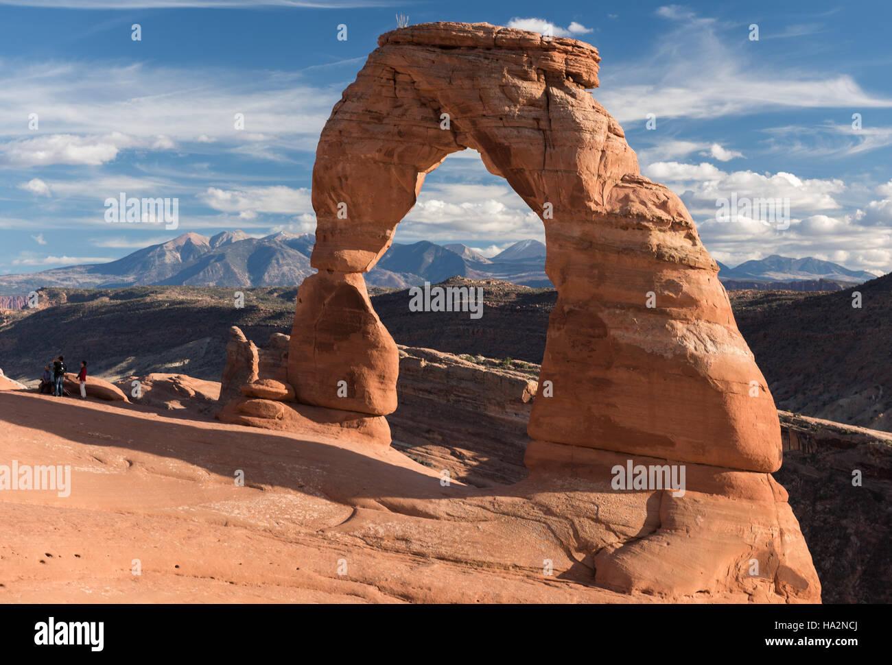 Delicate Arch, Arches National Park, Utah. Banque D'Images