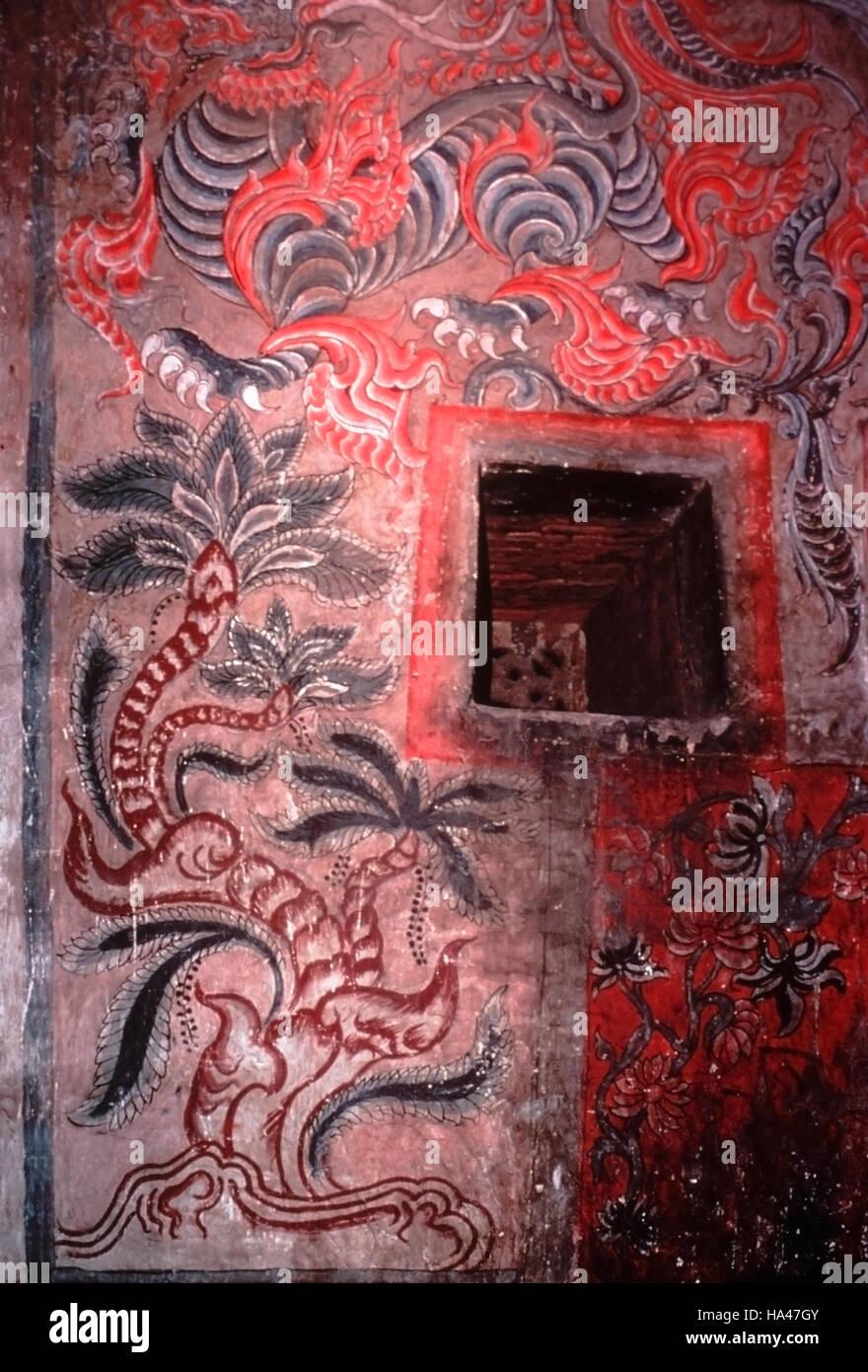 Arbre Et Bête La Peinture Sur Le Plafond Et Mur Du Couloir