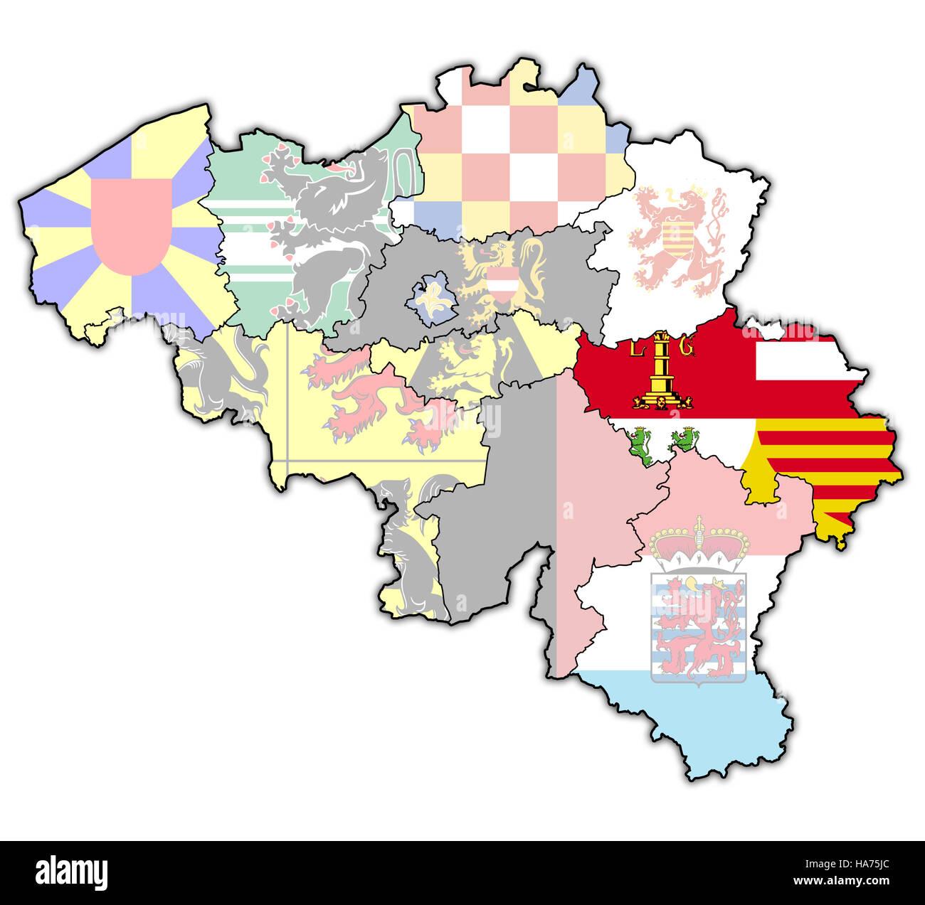 Carte Belgique Liege.Liege Sur L Administration Carte De Belgique Avec Les