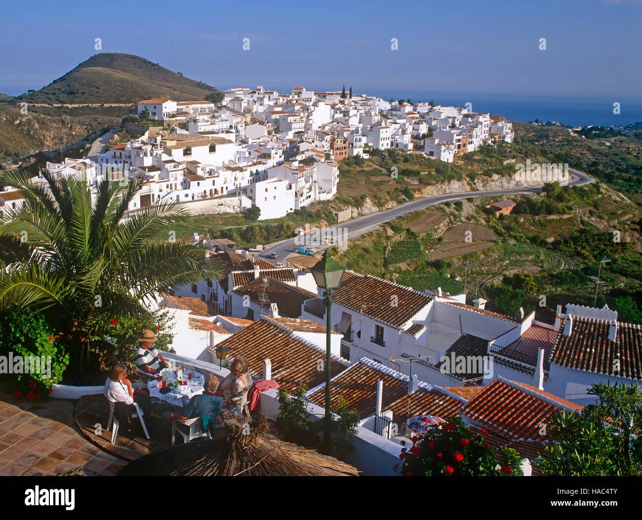 Frigliana, Costa del Sol, Andalousie, Espagne Photo Stock