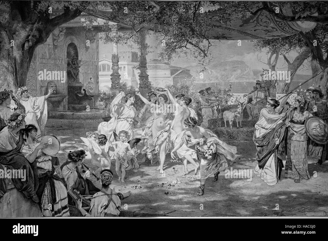 Le jugement de Paris est une histoire de la mythologie grecque, qui était l'un des événements Photo Stock