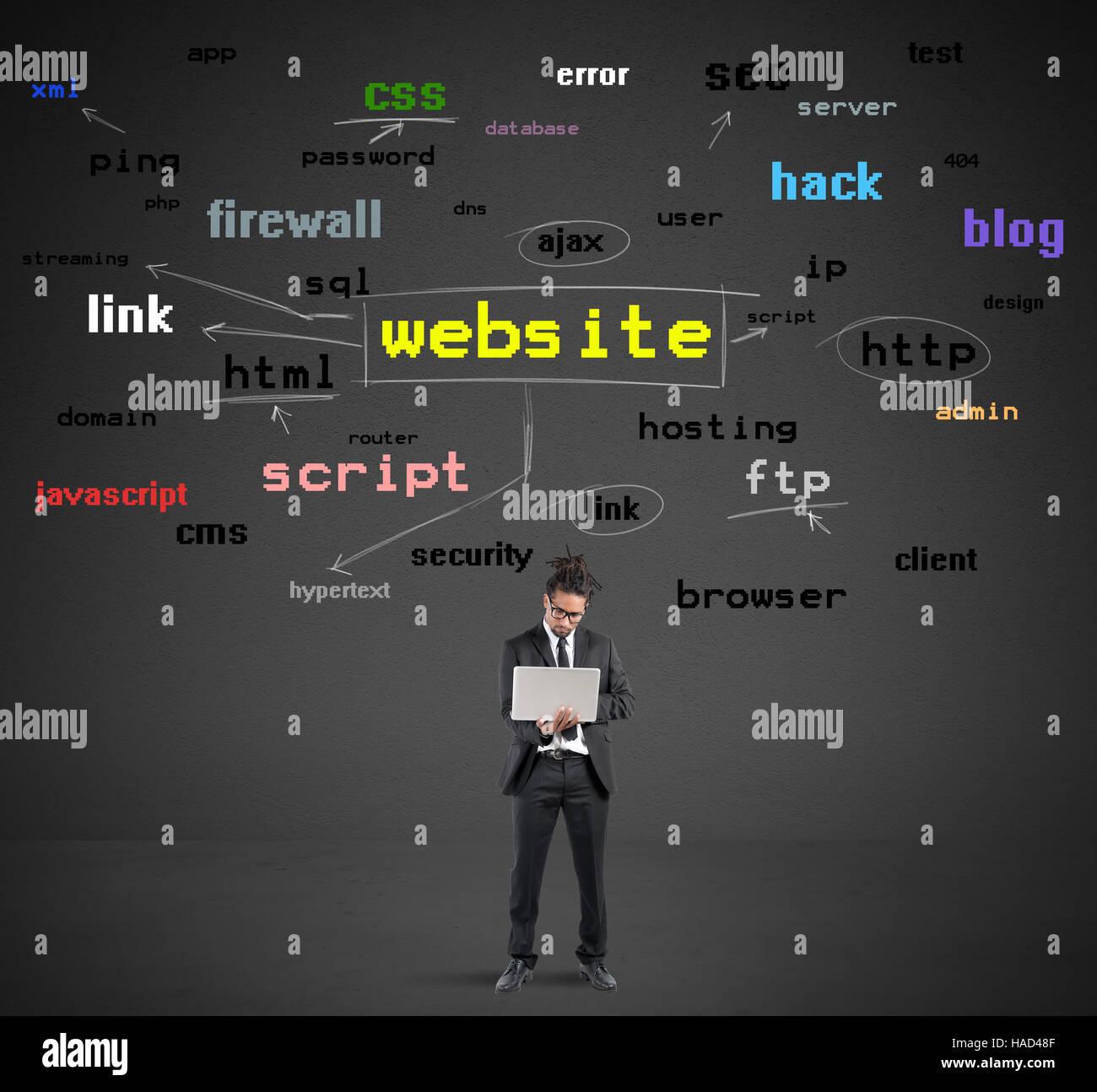 Apprendre à fabriquer des sites web Photo Stock