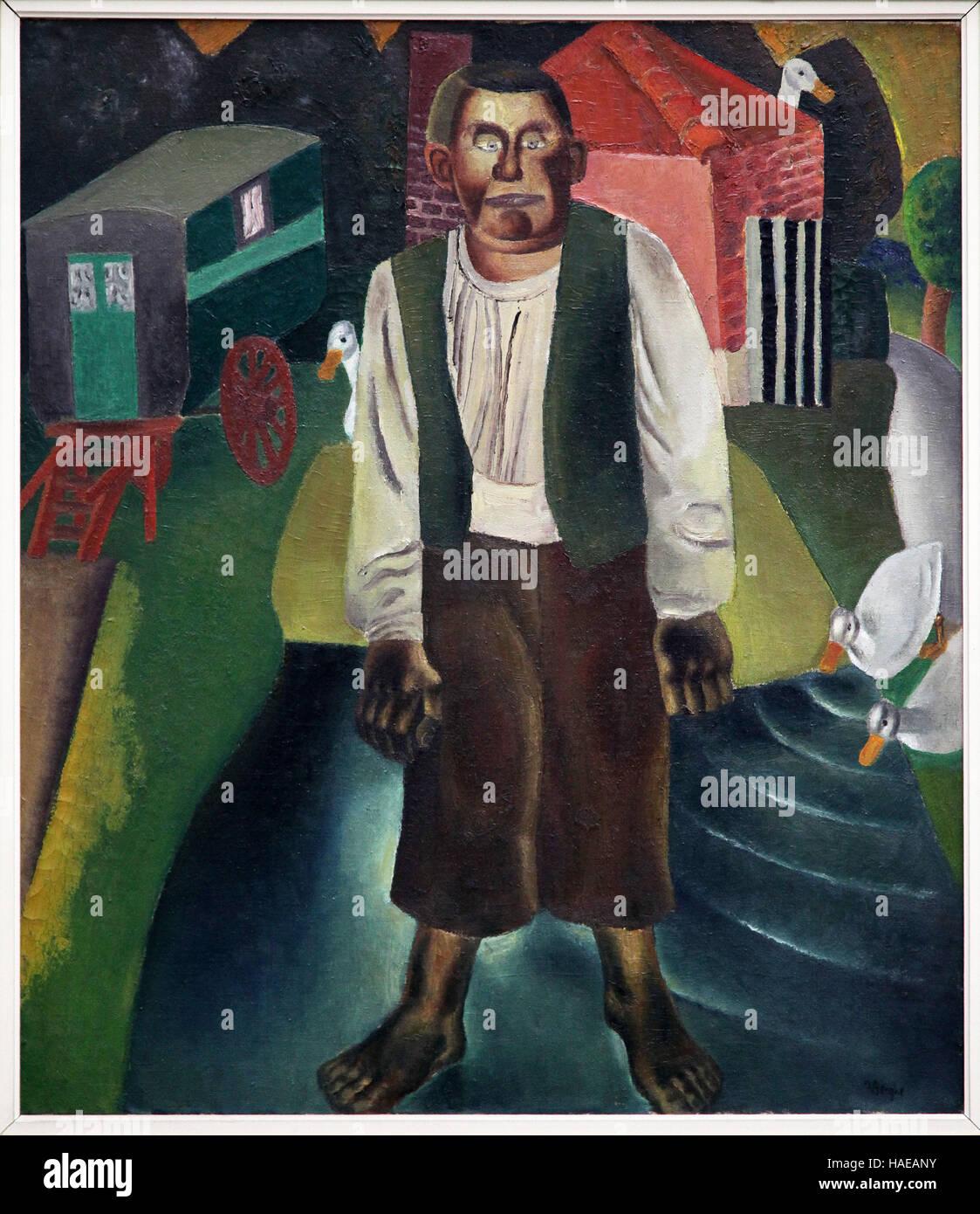 Frits van den Berghe 1883-1939 l'Idiot par l'Étang 1926 Photo Stock