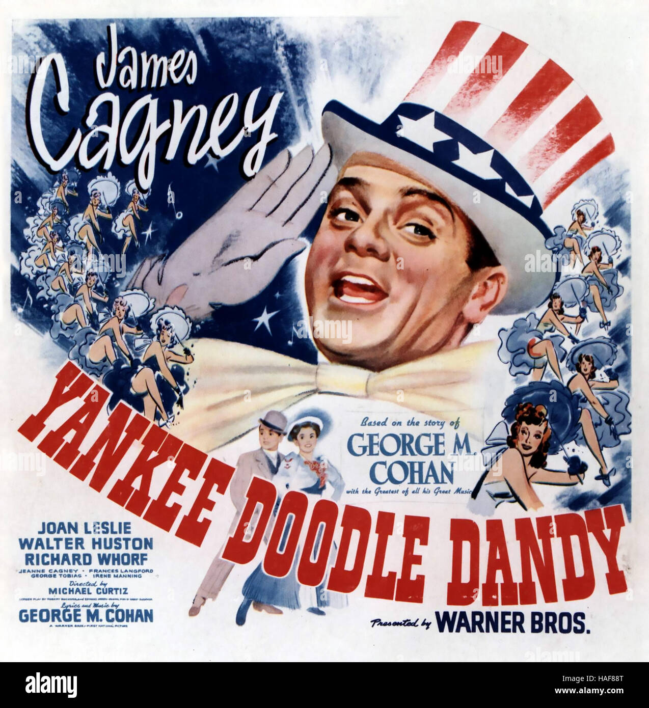 YANKEE Doodle Dandy 1942 Warner Bros film avec James Cagney Photo Stock
