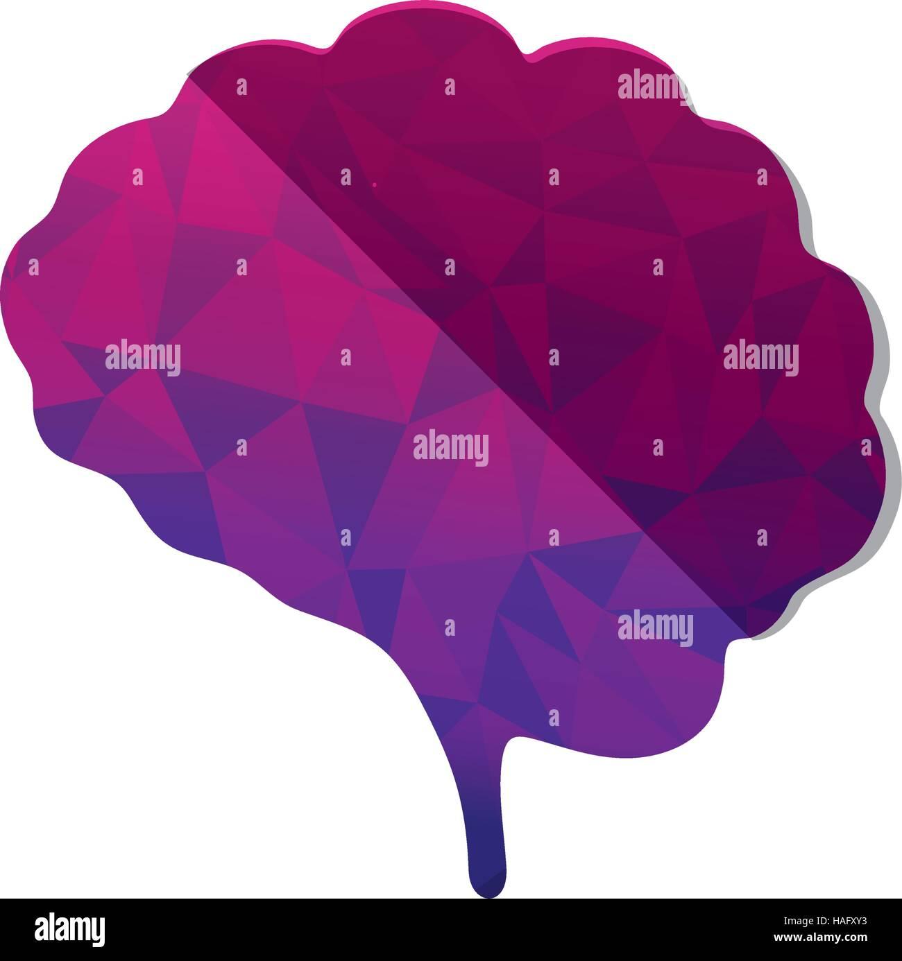 L'esprit du cerveau humain Photo Stock