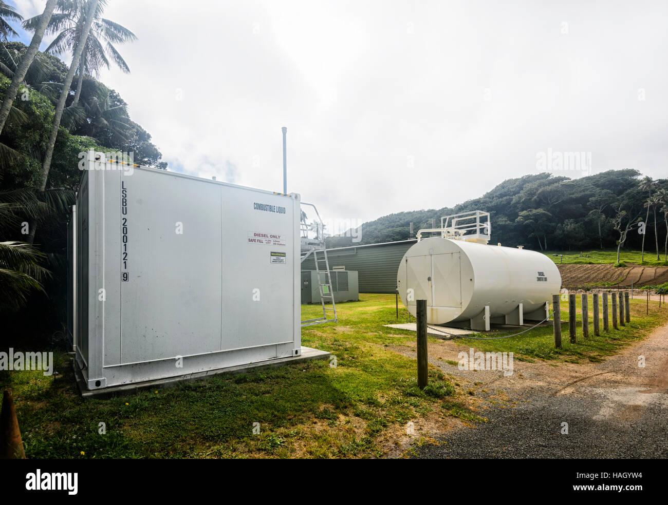 Générateur Diesel alimentant l ensemble de l île Lord Howe, New South  Wales, Australie. Un plan est en cours pour le compléter avec d éoliennes  et l énergie ... 7e4eb71d6f27
