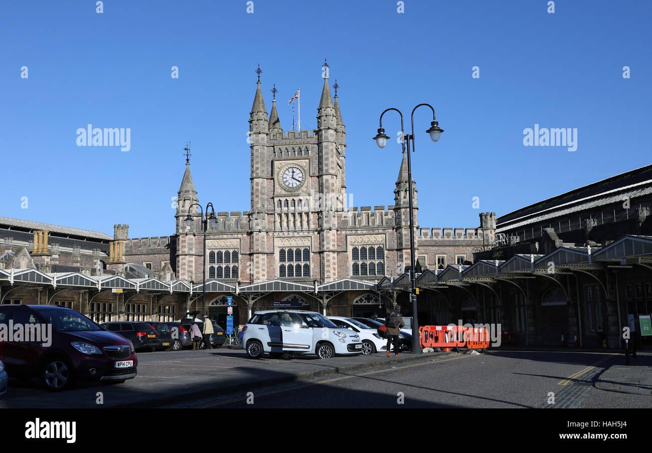 La gare Temple Meads de Bristol gv Photo Stock