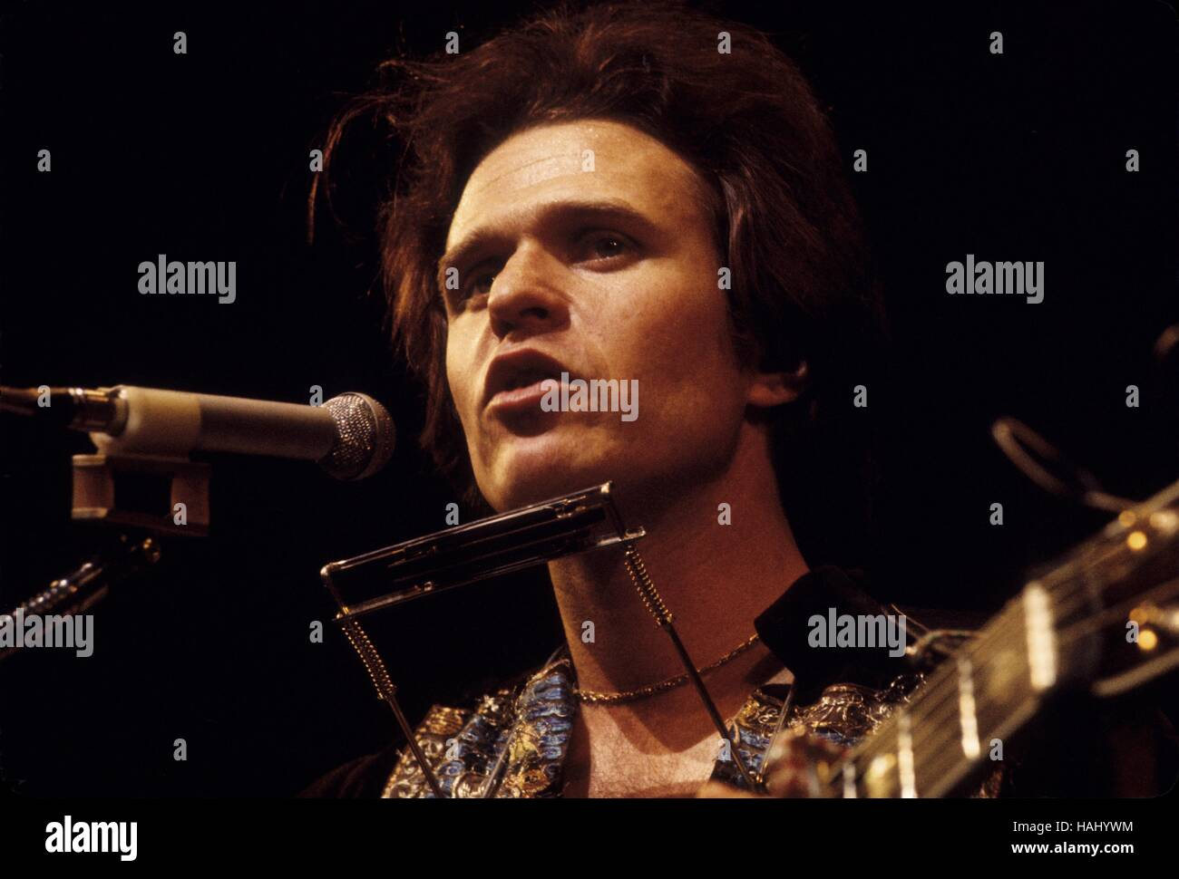 Country Joe McDonald - 28/03/1971 - France / Ile-de-France (région) / Paris - Concert Country Joe McDonald, Photo Stock
