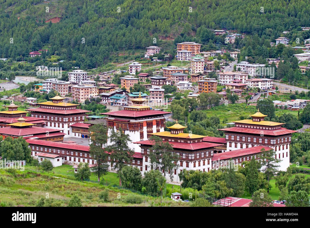 Trashi Chhoe Dzong à Thimphu Photo Stock