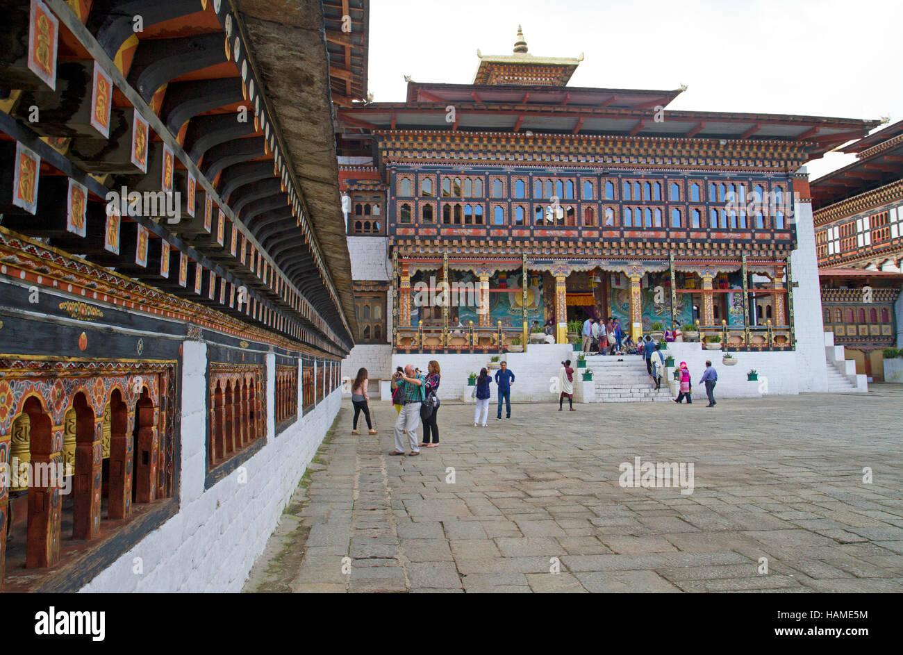 Trashi Chho Dzong à Thimphu Photo Stock