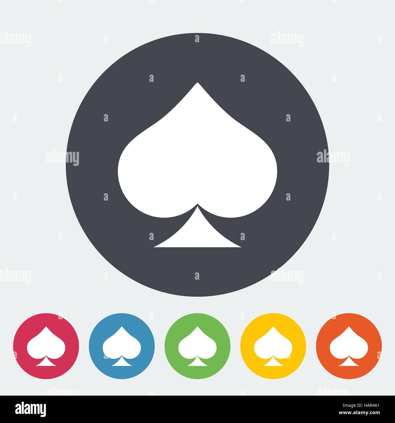 Pique. Seule simple icône sur la touche Cercle. Vector illustration. Photo Stock