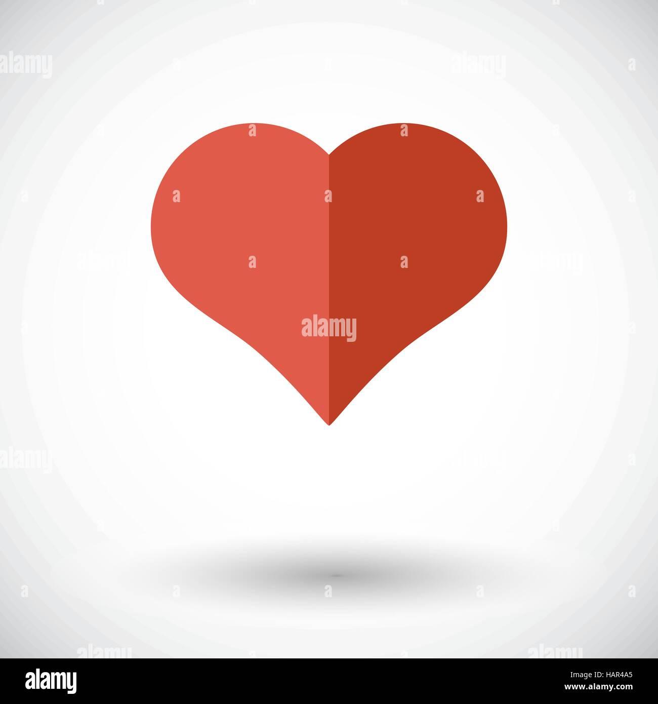 Fonction de coeur. Pour l'icône vecteur télévision mobile et d'applications web. Vector illustration. Photo Stock