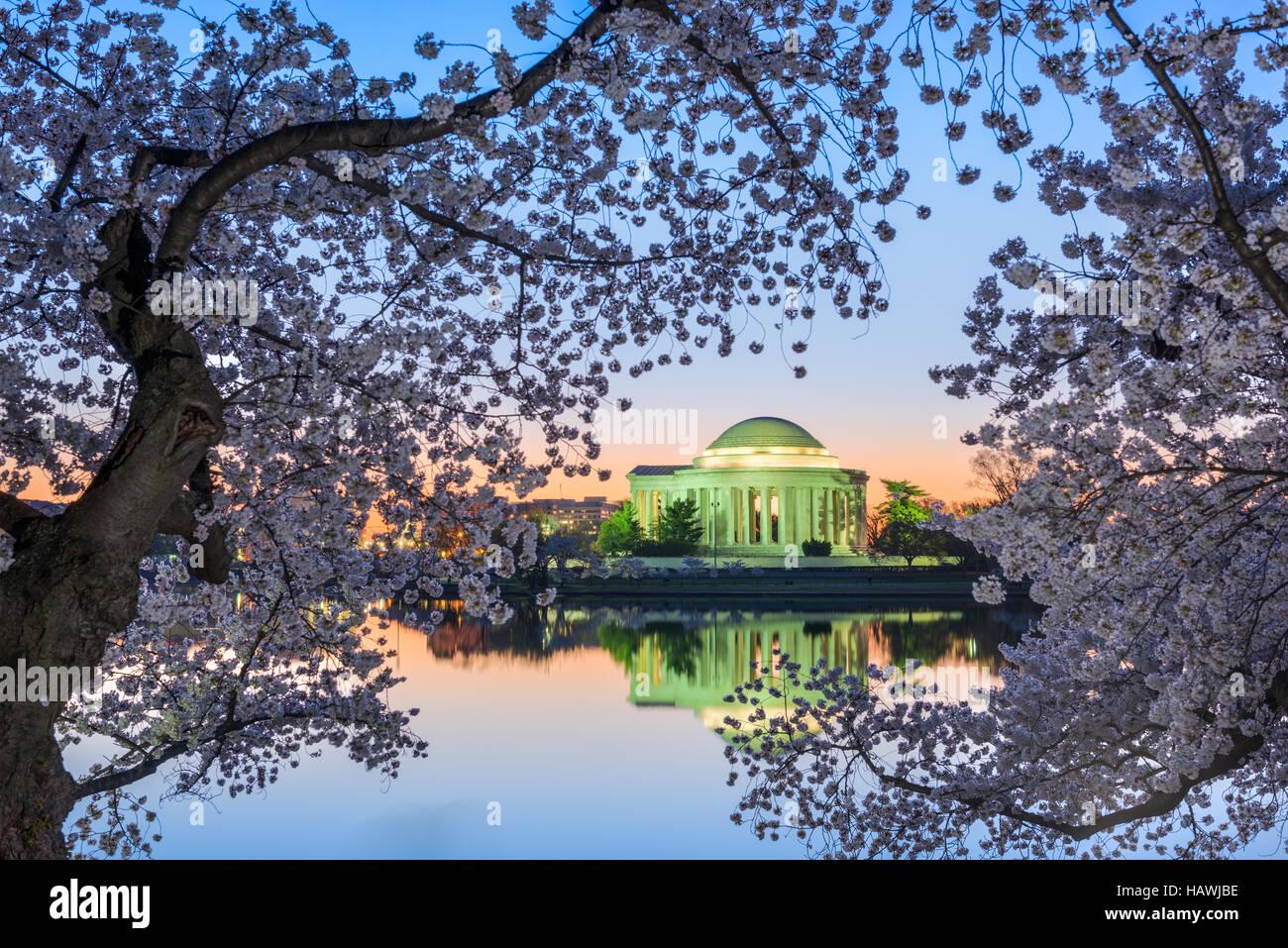 Washington, DC du Jefferson Memorial au printemps. Photo Stock