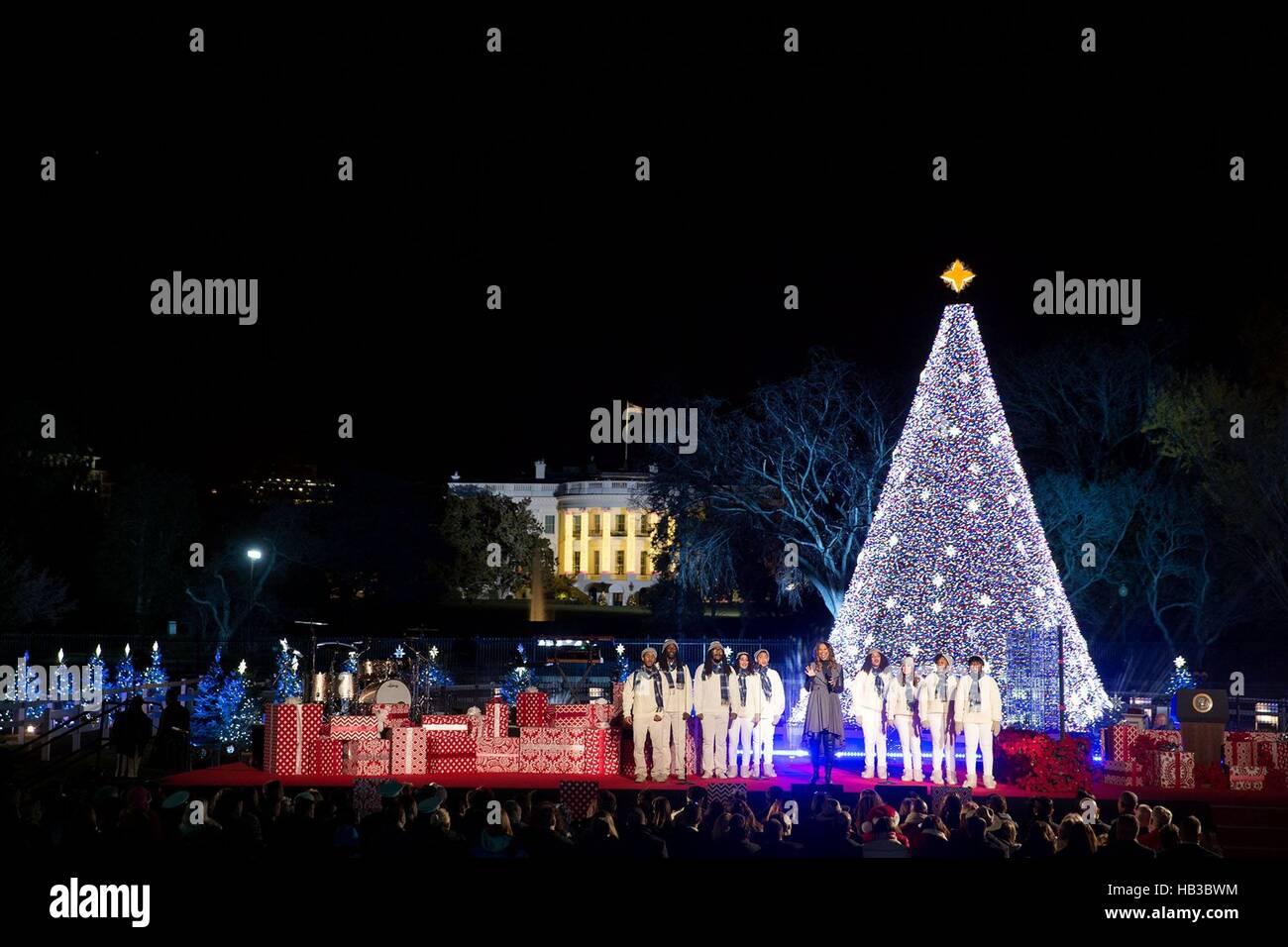 Yolanda Adams légende évangile effectue au cours de la cérémonie d'illumination de l'arbre Photo Stock